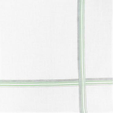 Variante verde - Cervinia - fazzoletto di cotone da uomo con righe fini in due colori