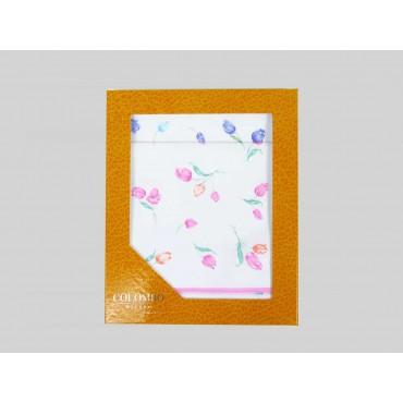 Box dozen - Grazia - handkerchiefs with tulips
