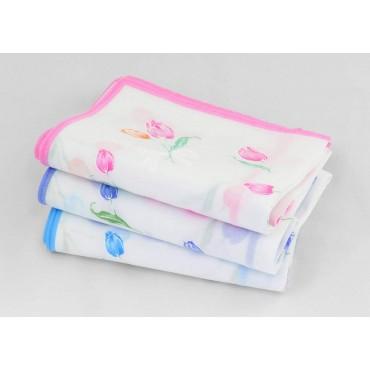 dozen - Grazia - handkerchiefs with tulips