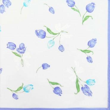 Box dozen - Grazia - handkerchiefs with tulips lilac colorway