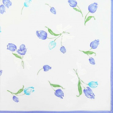 Variante lilla - Grazia - fazzoletti di cotone da donna con stampa di tulipani