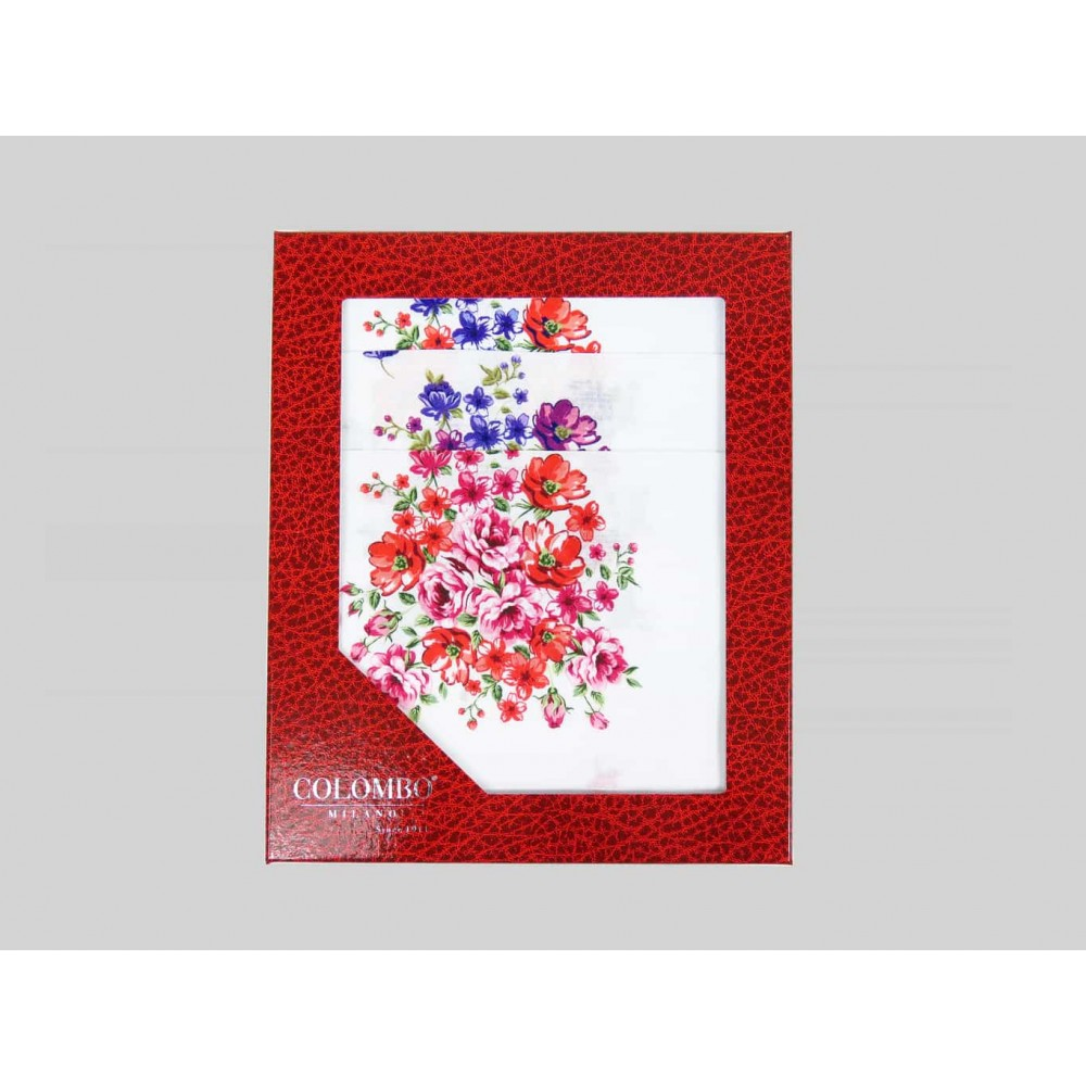 Victoria - handkerchiefs with bouquet on jacquard ground - Dozen box
