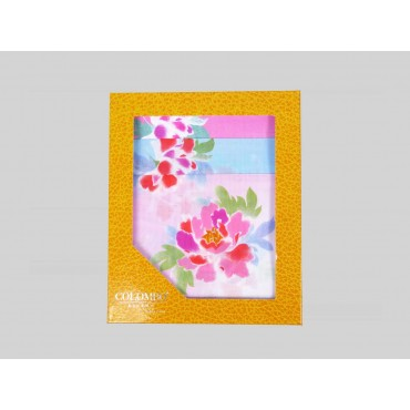 Giulia - 12 handkerchiefs with peony print - box
