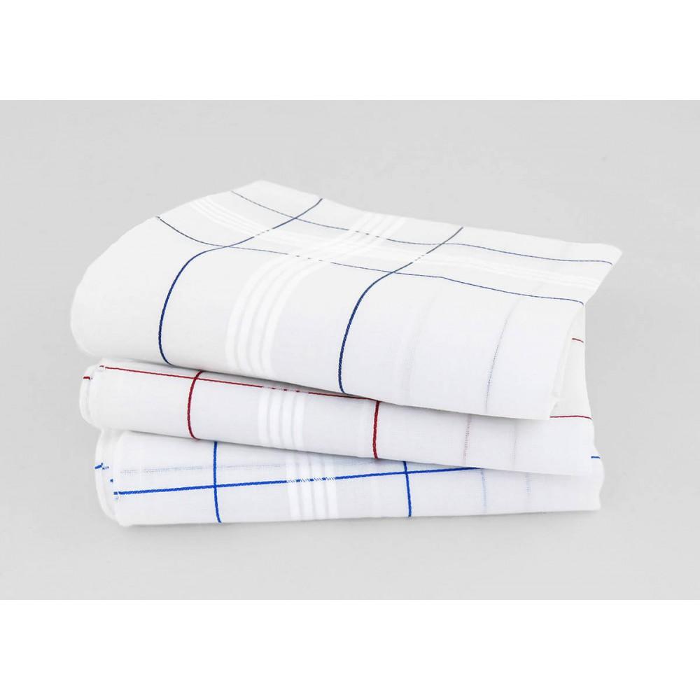 Varianti - Parigi - fazzoletti di cotone da uomo con incroci di righe di raso e colorate e Orlo Roulè