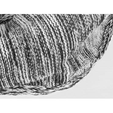 Dettaglio - Sciarpa ad anello da uomo bicolore casual