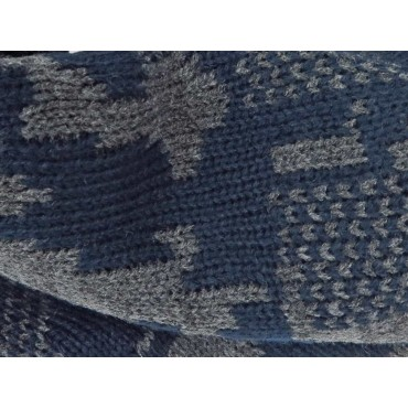 dettaglio - sciarpa ad anello da uomo jacquard mimetico