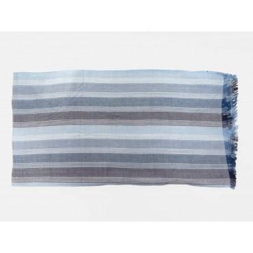 Stesa - Sciarpe primaverili estive - sciarpa foulard toni blu a righe fini