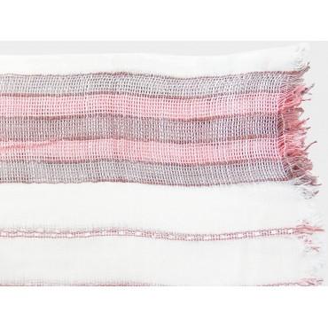 Dettaglio - Sciarpe primaverili estive - sciarpa foulard donna con righe rosa
