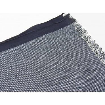 Dettaglio - Sciarpe primaverili estive - sciarpa foulard blu in cotone  a righe