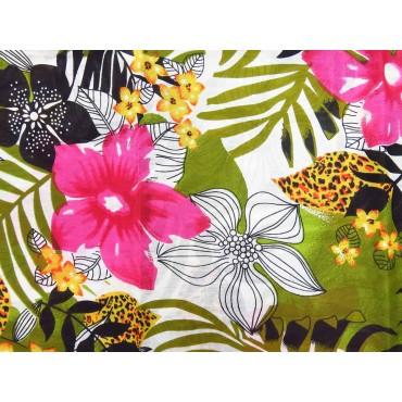 Dettaglio - Sciarpe primaverili estive - sciarpa pareo con stampa tropicale