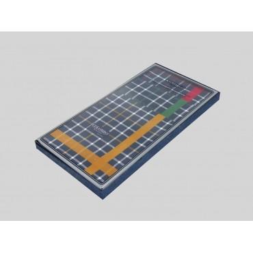 Scozia - blue ground checked handkerchiefs with colored satin stripe side box