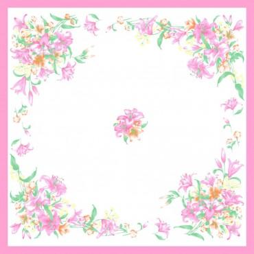 Variante rosa - fazzoletti di cotone da donna con fantasia floreale