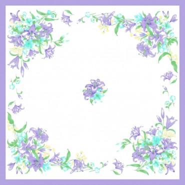 Variante viola - fazzoletti di cotone da donna con fantasia floreale