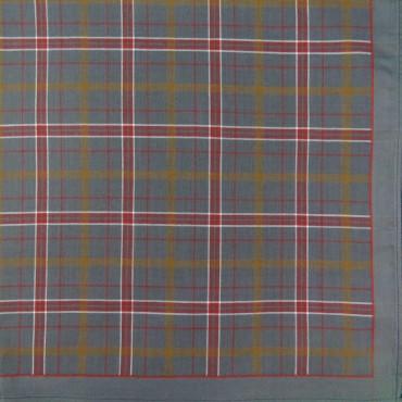 Variante grigia - fazzoletto di cotone scozzese da uomo con fantasia rigata