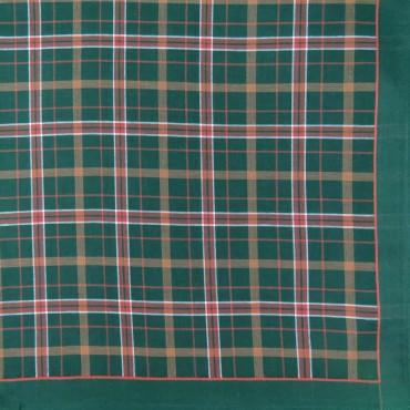 Variante verde - fazzoletto di cotone scozzese da uomo con fantasia rigata