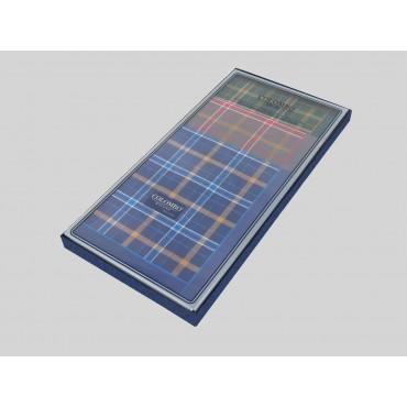 Laterale - Scozia - fazzoletti di cotone scozzesi da uomo con toni caldi