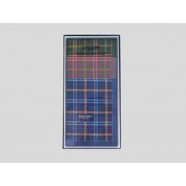 Scatola - Scozia - fazzoletti di cotone scozzesi da uomo con toni caldi