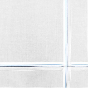 Parigi rigato - handkerchiefs with two-tone stripes and Rolled hem light blue detail