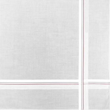 Parigi rigato - handkerchiefs with two-tone stripes and Rolled hem red detail