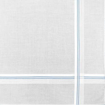 Parigi rigato - handkerchiefs with two-tone stripes and Rolled hem navy detail