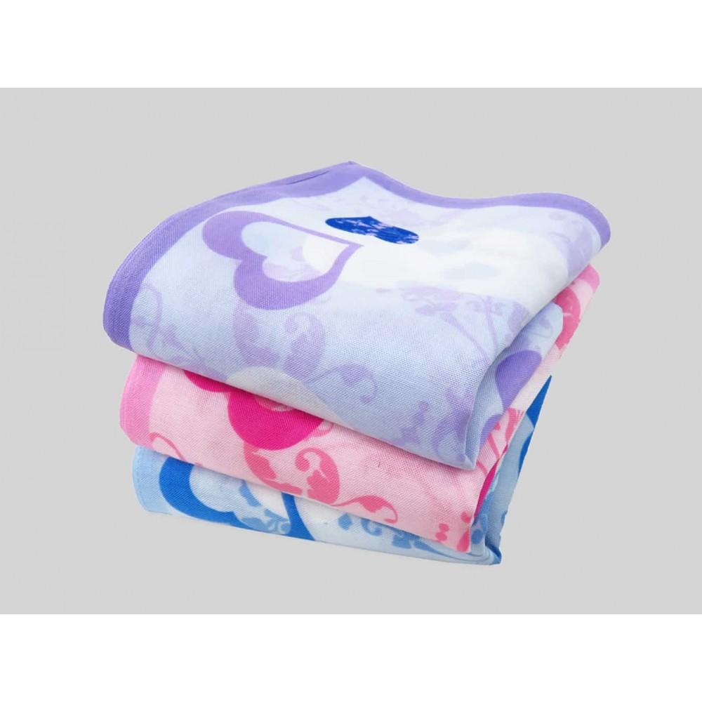 Varianti - Giulia - fazzoletti di cotone da donna con stampa a cuori