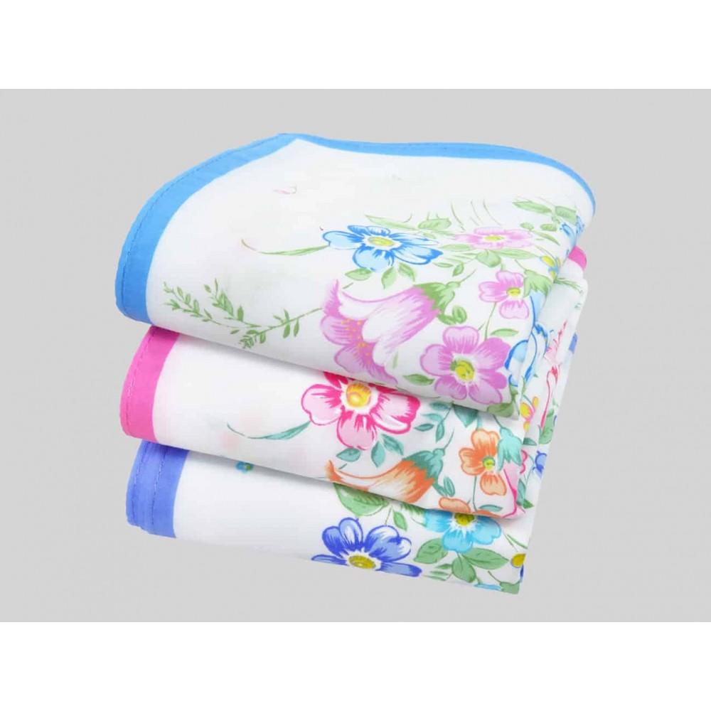 Colorways - Grazia - handkerchiefs with cosmea flowers and bluebells