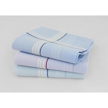 Varianti - Versailles - fazzoletti di cotone da uomo rigati con fondo pastello