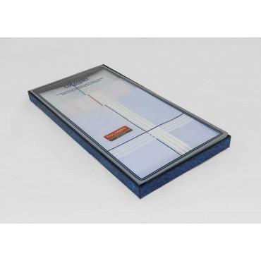 Scatola laterale - Versailles - fazzoletti di cotone da uomo rigati con fondo pastello