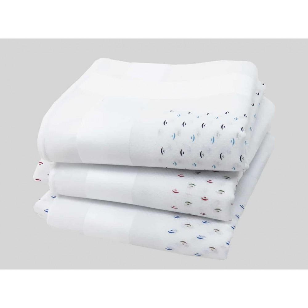 Varianti - fazzoletti di cotone da uomo con fantasia astratta e righe di raso