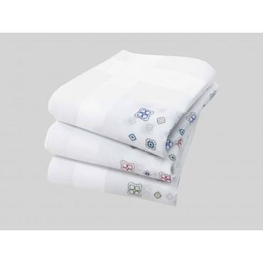 Principe - white handkerchiefs with geometric motifs