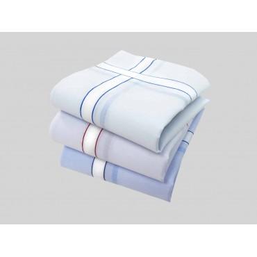 Varianti -  fazzoletti di cotone da uomo con riga spessa
