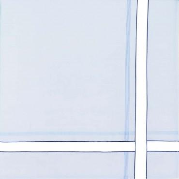 Variante blu - fazzoletti di cotone da uomo con riga spessa