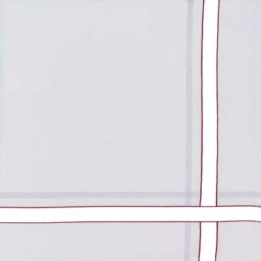 Variante rossa - fazzoletti di cotone da uomo con riga spessa