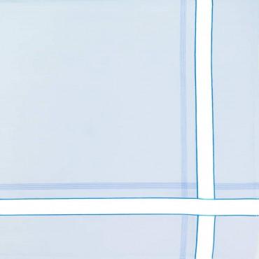 Variante azzurra - fazzoletti di cotone da uomo con riga spessa