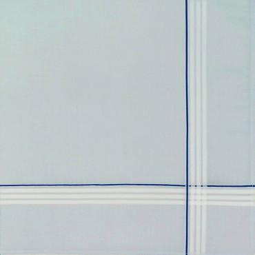 Variante azzurra  - Versailles - fazzoletto di cotone da uomo rigato con fondo pastello