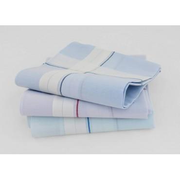 Varianti - Versailles - fazzoletti di cotone da uomo con incroci di spesse righe di raso su fondo pastello