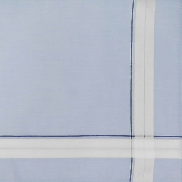 Versailles - handkerchiefs with double stripe and pastel ground detail navy