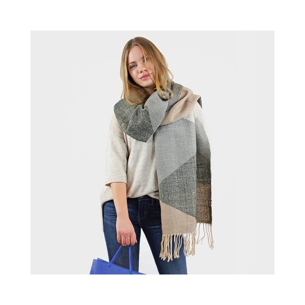 Soft stole with earth colors