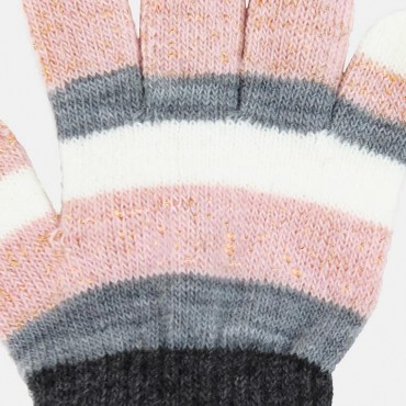 Girl's gloves striped with lurex - Colombo Milano 1911 - detail