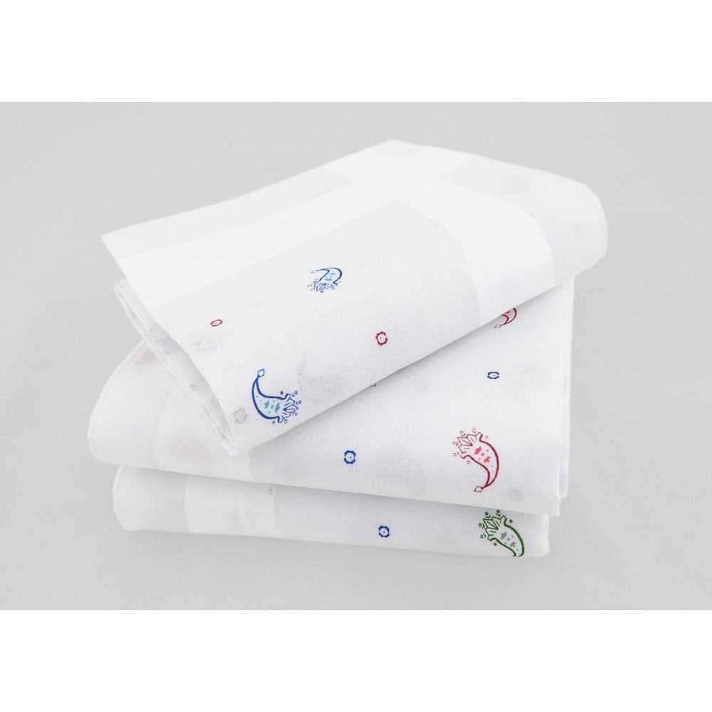 Varianti - Principe - fazzoletti di cotone bianchi da uomo con motivi cachemire