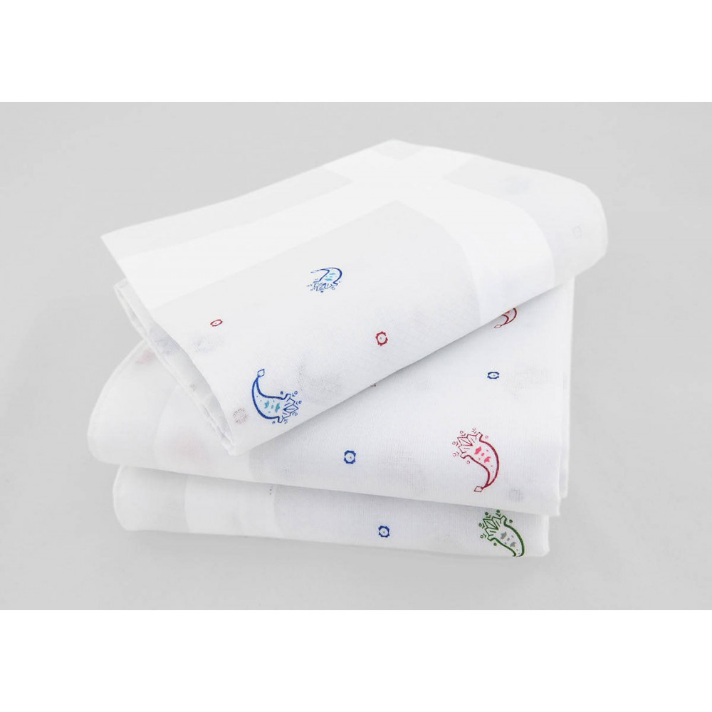 Principe - jacquard ground handkerchiefs cashmere motifs