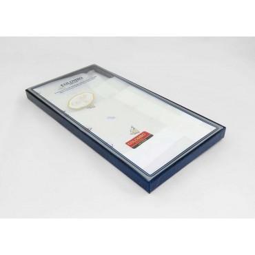 Scatola laterale - Principe - fazzoletti di cotone bianchi da uomo con motivi marinari