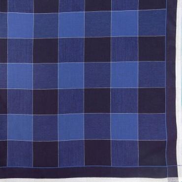 Variante blu - Scozia - fazzoletto di cotone da uomo a quadrettoni