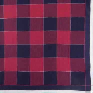 Variante rossa - Scozia - fazzoletto di cotone da uomo a quadrettoni