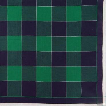 Variante verde - Scozia - fazzoletto di cotone da uomo a quadrettoni