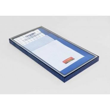 Scozia - royal blue checked handkerchiefs side box