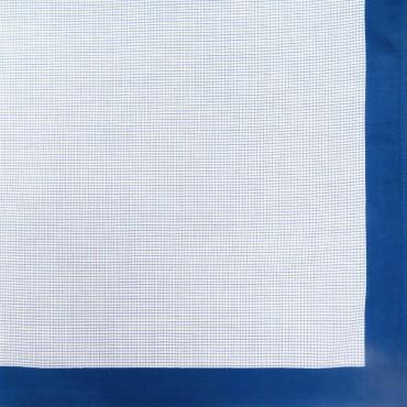 Variante quadretti piccoli - Scozia - fazzoletto di cotone da uomo con quadretti blu royal