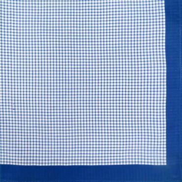 Variante quadretti medi - Scozia - fazzoletto di cotone da uomo con quadretti blu royal