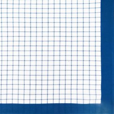 Variante quadretti grandi - Scozia - fazzoletto di cotone da uomo con quadretti blu royal