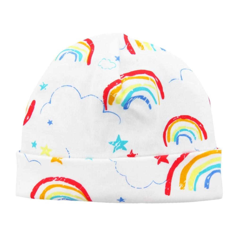 RAINBOW - berretto neonato con stampa arcobaleno